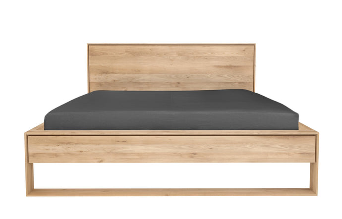 Nordic II Oak Bed with Slats by Ethnicraft - Queen