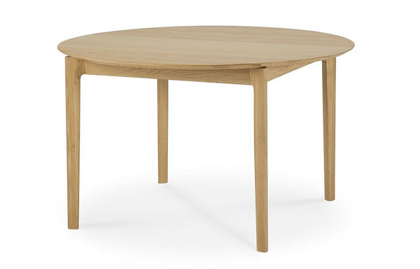 Oak Bok Round Extendable Dining Table by Ethnicraft.