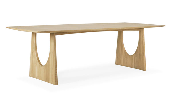 Oak Geometric Dining Table by Ethnicraft.
