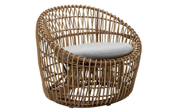 Nest Outdoor Round Chair by Cane-line.
