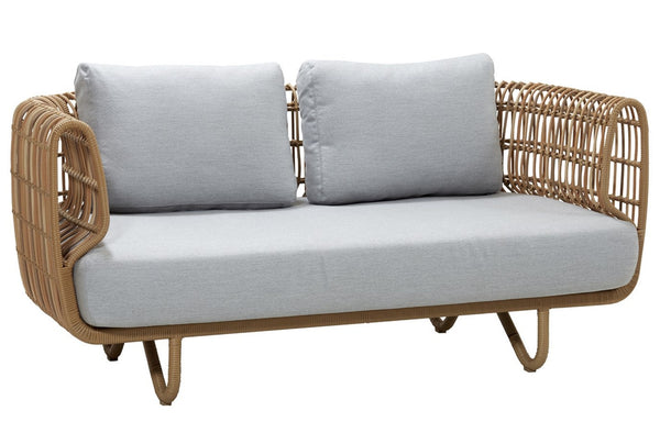 Nest 2 Seater Outdoor Sofa by Cane-line.