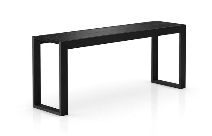 Hanover Console by Modloft - Black Crocco Reclaimed Leather