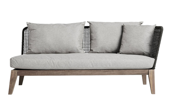 Netta Open Right Arm Sofa in Feather Gray Fabric by Modloft.
