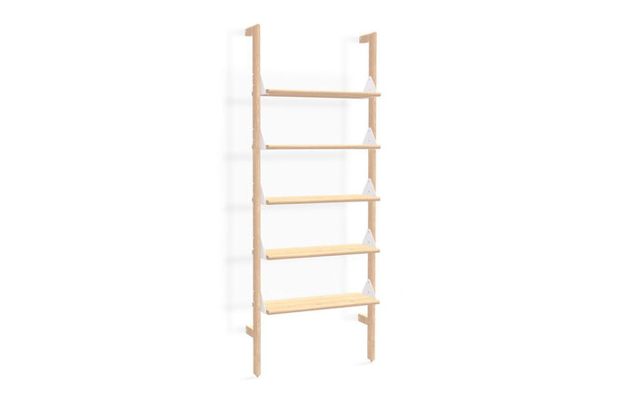 Branch-1 Shelving Unit by Gus - Blonde Uprights/White Brackets/Blonde Shelves