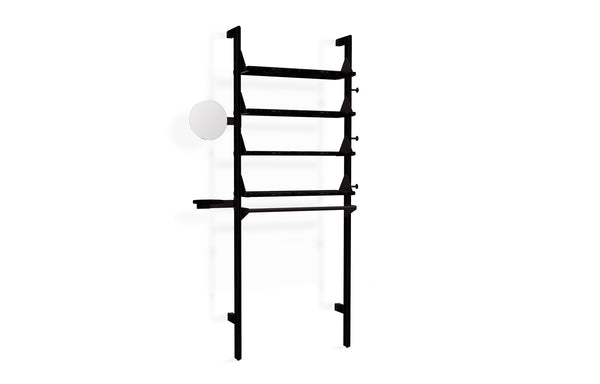 Branch-1 Display Unit by Gus - Black Uprights/Black Brackets/Black Shelves