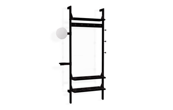 Branch-1 Entryway Unit by Gus - Black Uprights/Black Brackets/Black Shelves