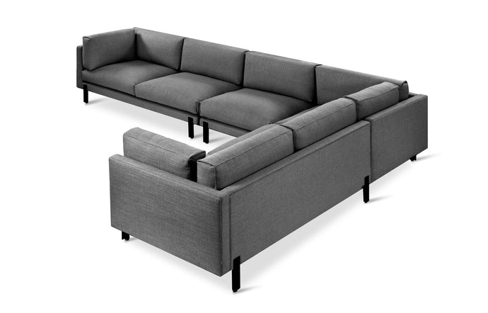 Silverlake XL Sectional Kit by Gus - Left Facing, Andorra Pewter Fabric
