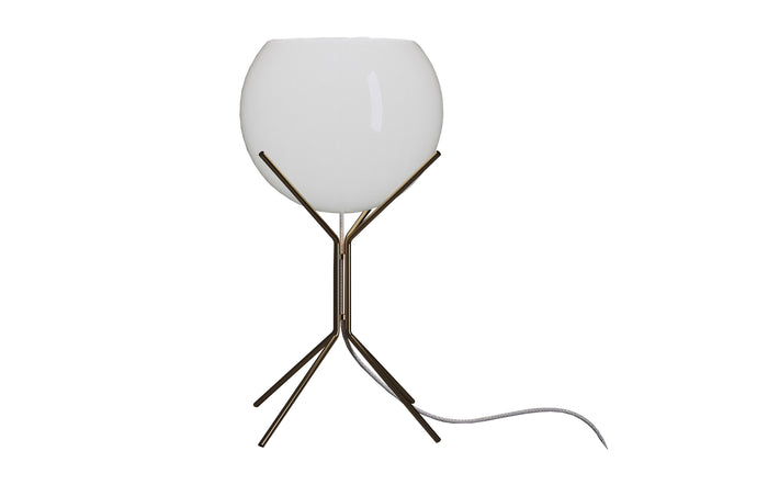 Cambridge Table Lamp by Modloft Black - White Glass and Brass