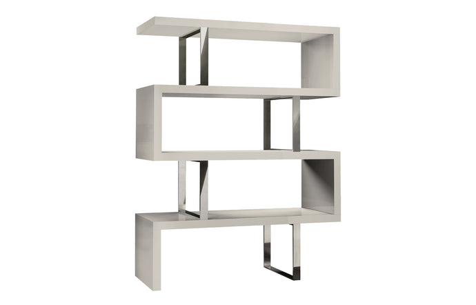 Pearl Bookcase by Modloft - Glossy Chateau Gray.