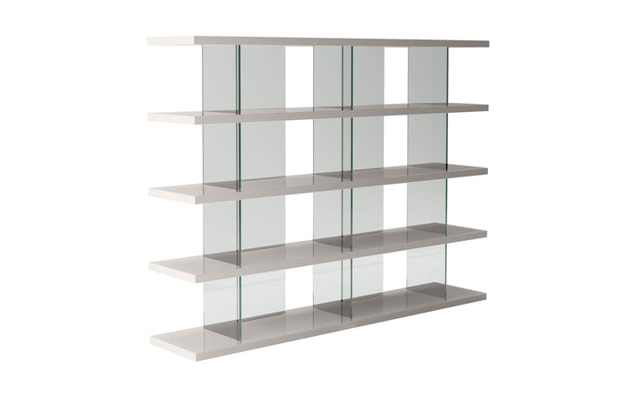 Beekman Bookcase by Modloft - Glossy Chateau Gray.