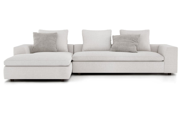 Lucerne Chaise Sectional Sofa by Modloft - Left Facing.