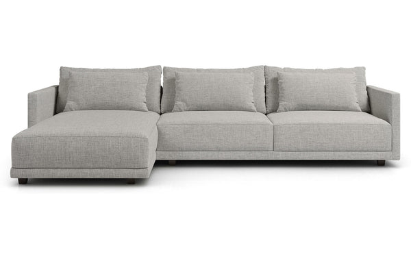 Basel Chaise Sectional Sofa by Modloft - Left Facing.