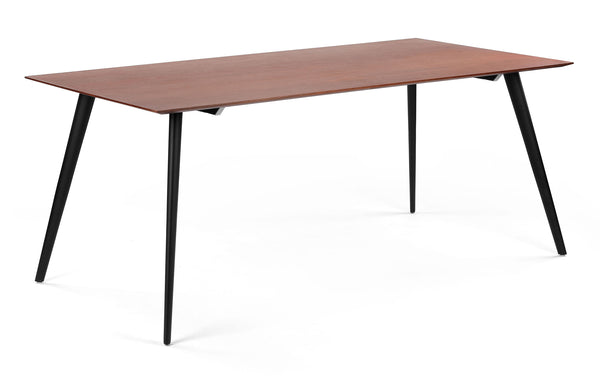 Airfoil Dining Table by m.a.d. - 71'' x 35'', Black Powder Coated, Matt White
