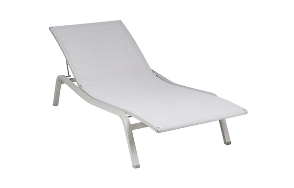 Alize Clay Grey Sunlounger by Fermob.