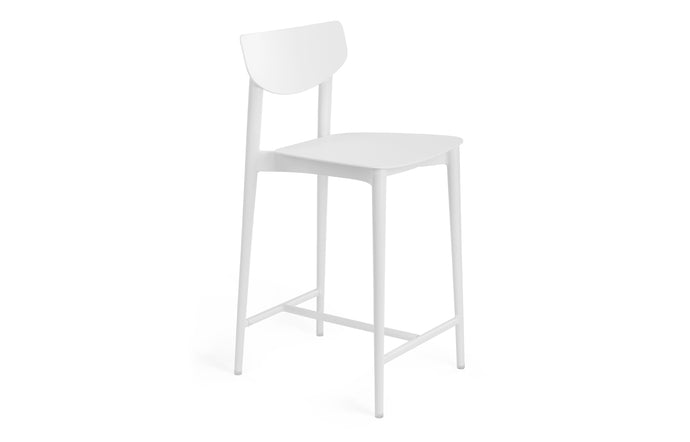 Ally Bar Stool by m.a.d. - White Powder Coated Aluminum.