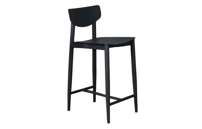 Ally Counter Stool by m.a.d. - Black Powder Coated Aluminum.