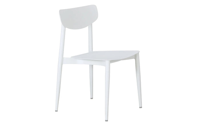Ally Dining Chair m.a.d. - White Powder Coated Aluminum.