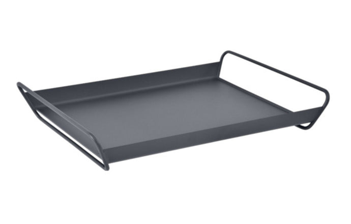 Alto Metal Tray by Fermob - Anthracite (speckled matte textured)