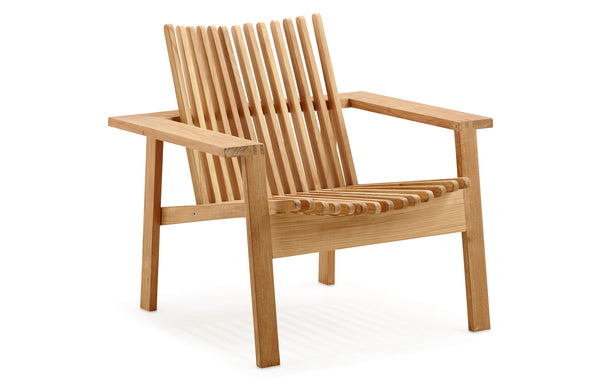 Amaze Stackable Lounge Chair by Cane-Line - Teak/No Cushion.