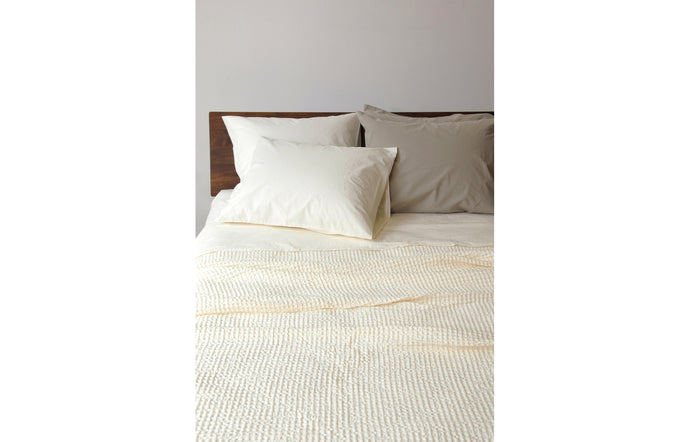 Anton Ivory Cotton Fitted Sheet by Area