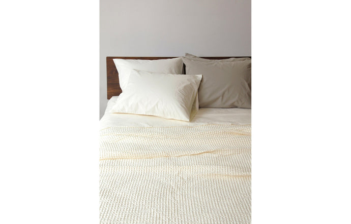 Anton Ivory Cotton Flat Sheet by Area