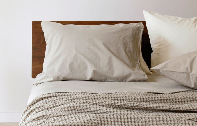 Anton Khaki Cotton Fitted Sheet by Area