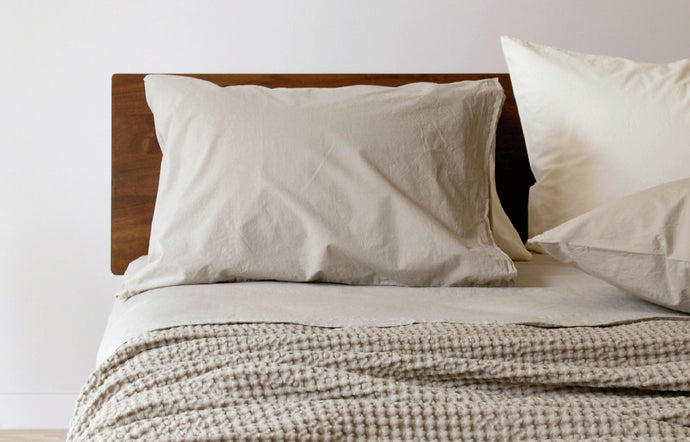 Anton Khaki Cotton Pillow Cases (pair) by Area.
