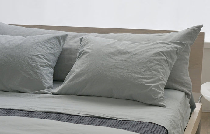 Anton Mineral Cotton Pillow Cases (pair) by Area