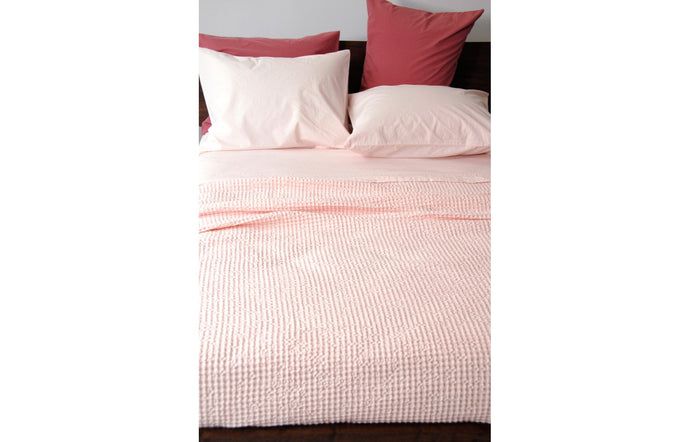Anton Pink Cotton Flat Sheet by Area