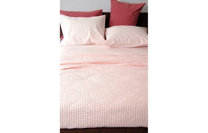 Anton Pink Cotton Pillowcase by Area