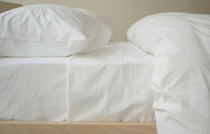 Anton White Cotton Fitted Sheet by Area.