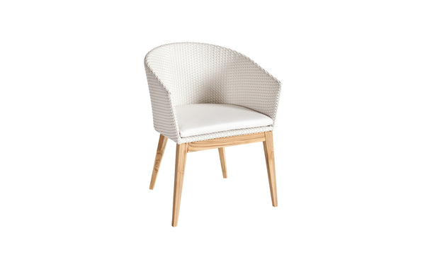 Arc Dining Armchair by Point - White 35.