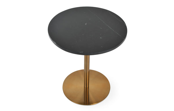 Ares End Table with Gold Brass by SohoConcept - Black Carrara Marble
