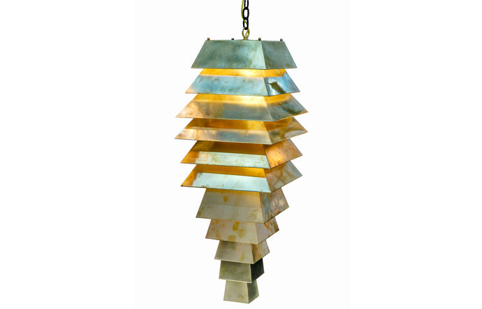 James De Wulf Armadillo Pendant by De Wulf - Solid Brass Sheeting.