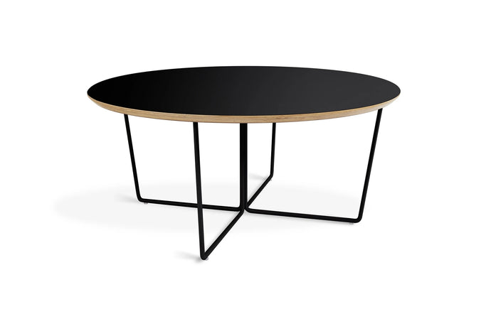 Array Round Coffee Table by Gus Modern - Black Powder Coat.