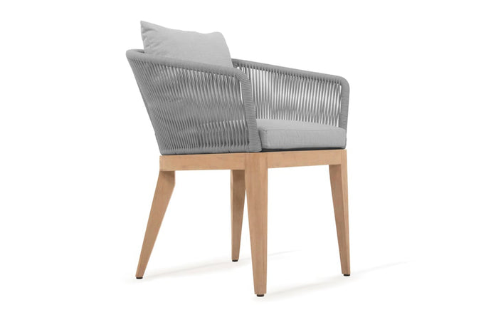 Avalon Dining Chair by Harbour Outdoor - Olefin Rope Grey.