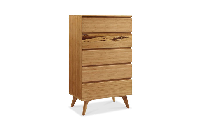 Azara Five Drawer Chest by Greenington - Caramelized Wood.