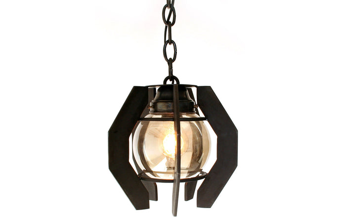 James De Wulf Ball Pendant by De Wulf - Forge Blackened Steel.