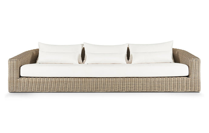 Barcelona Three Seat Sofa by Harbour - Natural Weave.