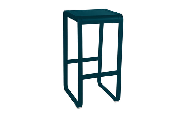 Bellevie High Stool Without Backrest by Fermob - Acapulco Blue (matte textured)