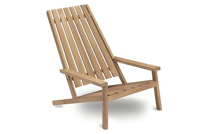 Between Lines Deck Chair by Skagerak - Teak.
