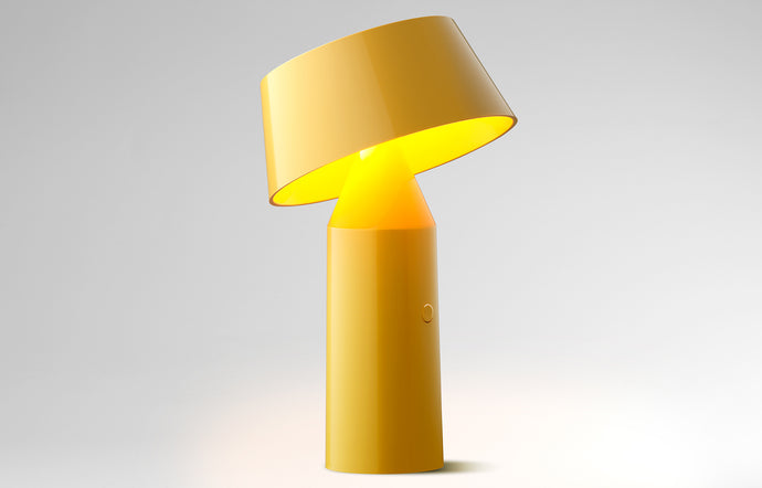 Bicoca Portable Table Lamp by Marset - Yellow Shade.