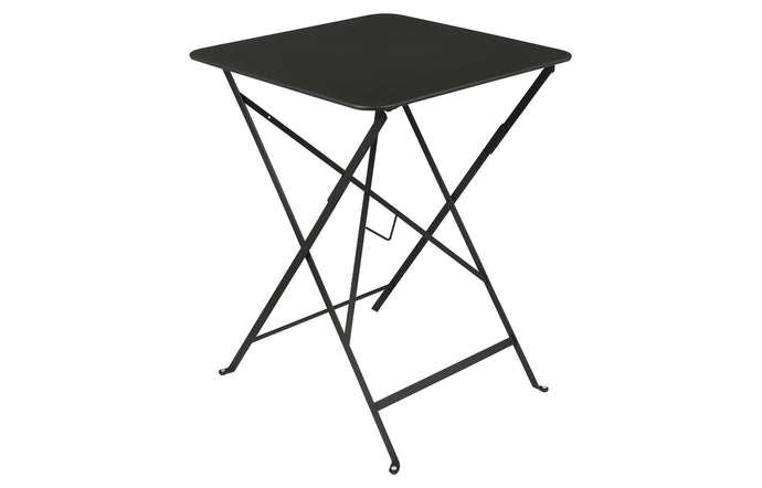 Bistro Square Folding Table by Fermob - Liquorice (matte textured)