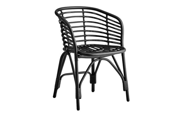 Blend Indoor Armchair by Cane-Line - Black Painted Rattan, No Cushion.