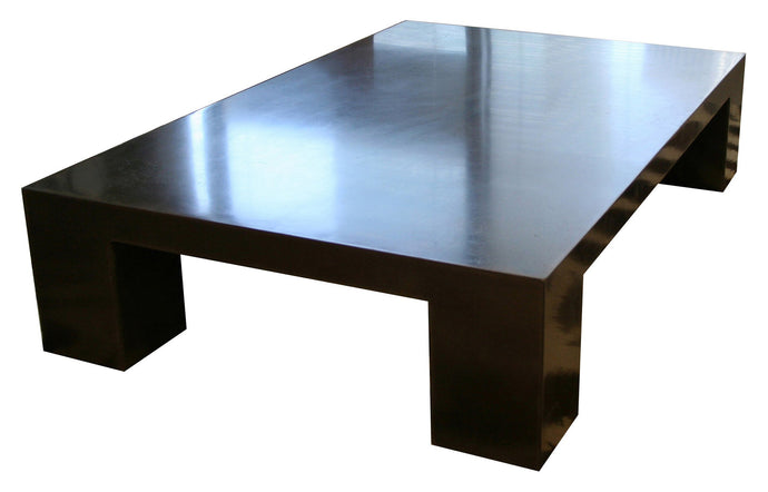 James De Wulf Block Coffee Table by De Wulf - Black Concrete.