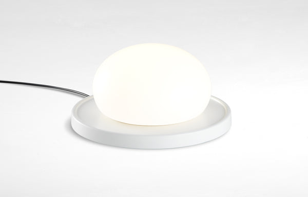 Bolita Table Lamp by Marset - White Lacquered Steel.