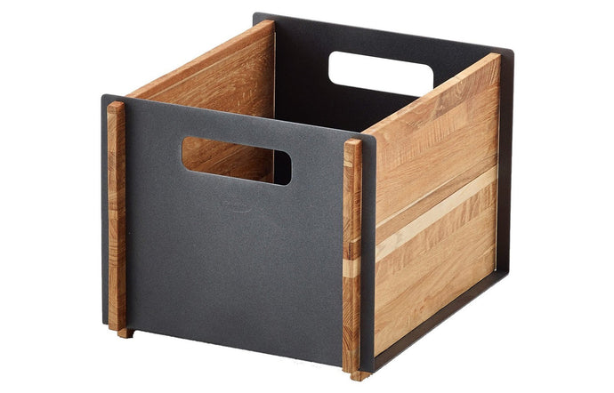 Box Storage Box by Cane-Line - Teak/Lava Grey Powder Coated Aluminum.
