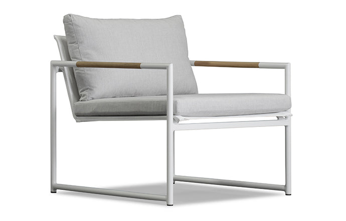 Breeze Arm Chair by Harbour - Powder Coated Aluminum White.