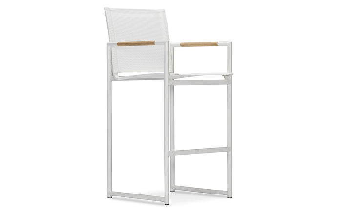 Breeze Counter Stool by Harbour - Batyline White, White Powdercoat.