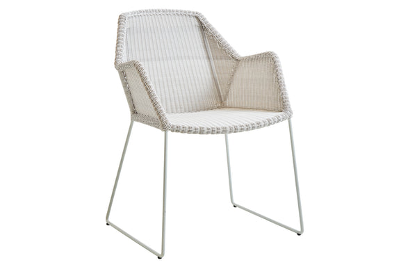 Breeze Dining Chair by Cane-Line - White Grey Fibre Weave, No Cushion Set.